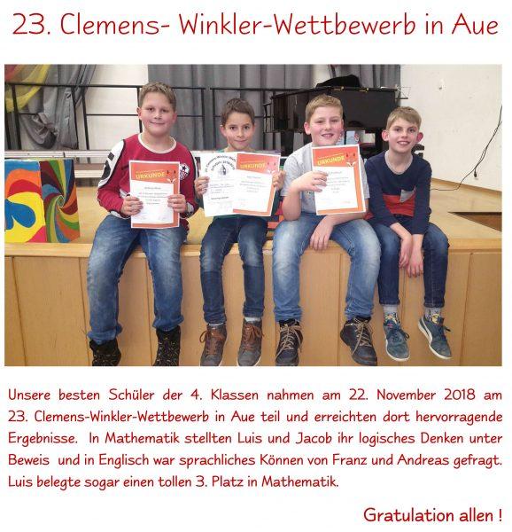 Clemens Winkler Wettbewerb 2018